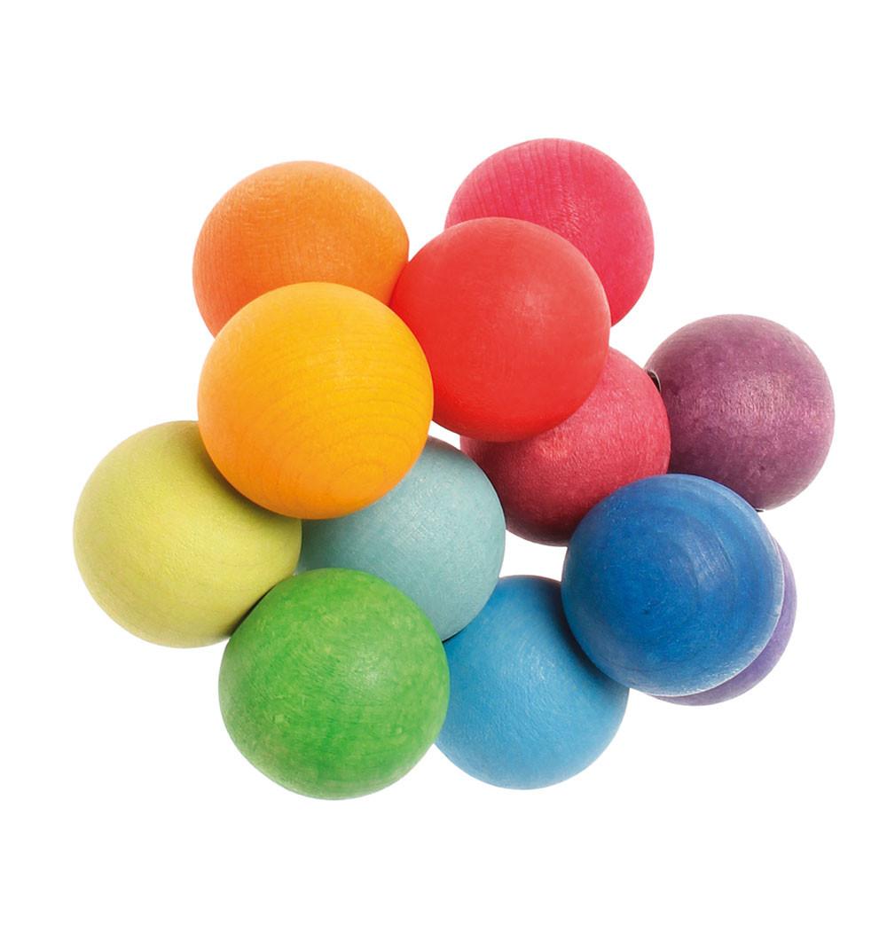 Grimms rangle med regnbuefarvet trækugler