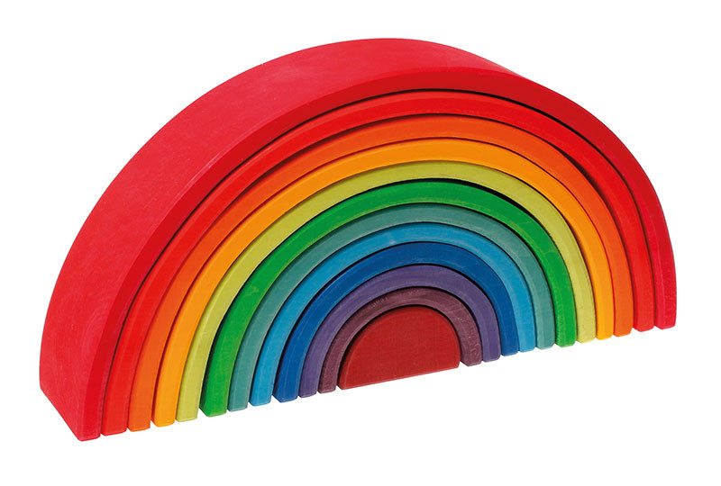 Grimms træ regnbue stor i regnbuefarver