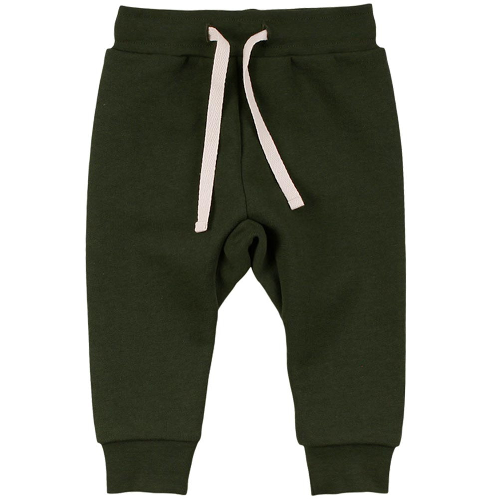 Müsli Check sweatpants baby bukser med bindebånd