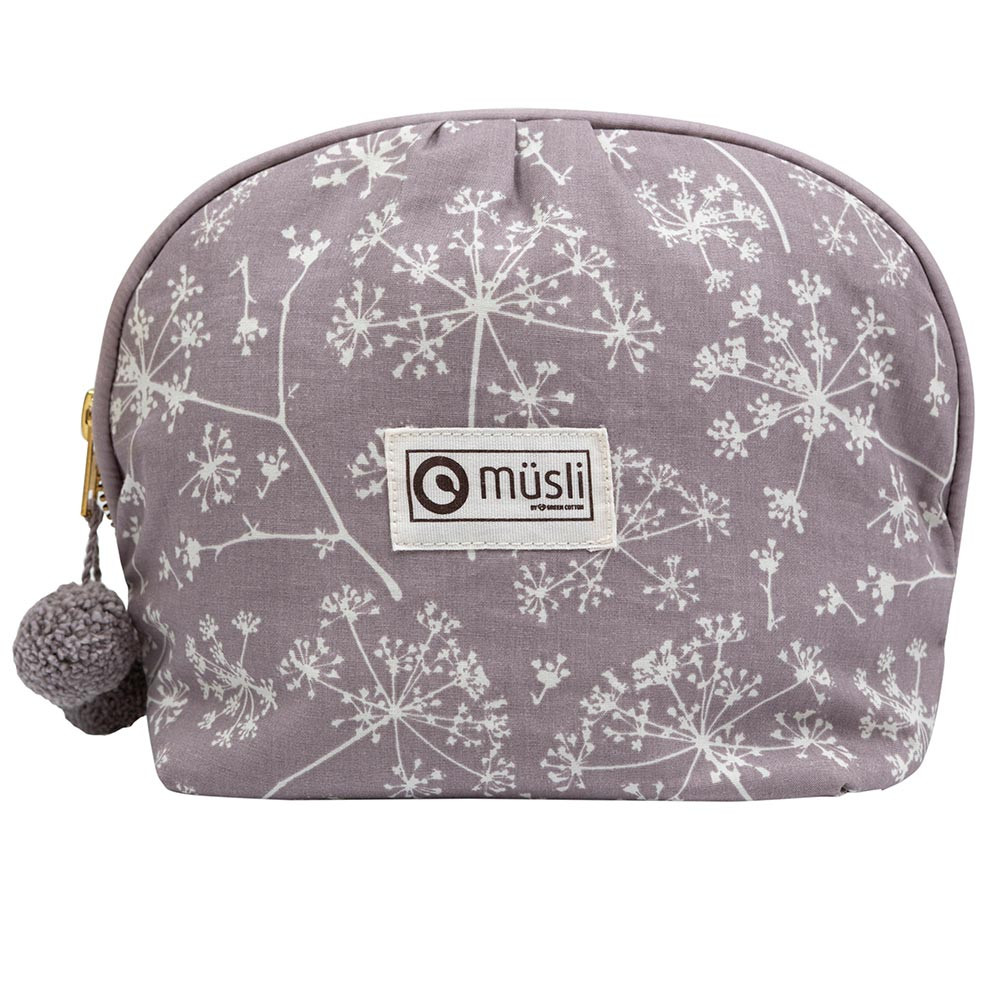 Müsli conium clutch/toilettaske med blomsterprint