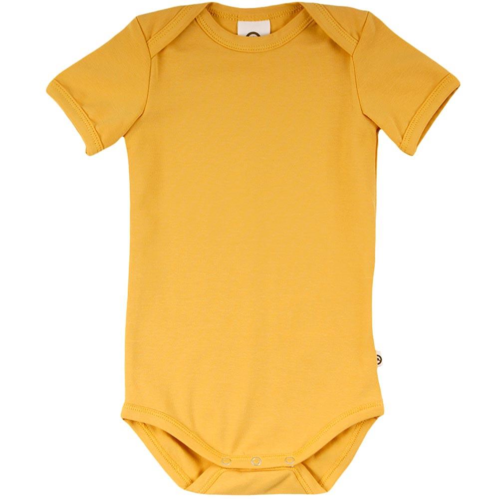 Müsli Cozy me ensfarvet gul kortærmet body