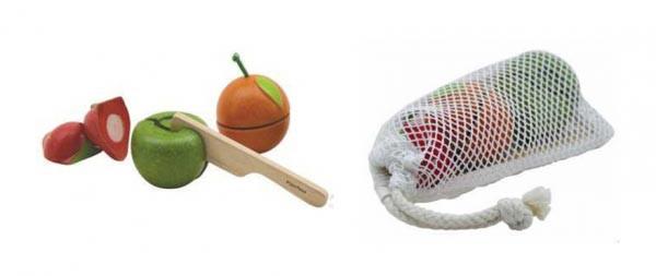 Plan Toys - Frugtsæt - trælegetøj