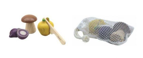 Plan Toys - Grøntsagssæt - trælegetøj