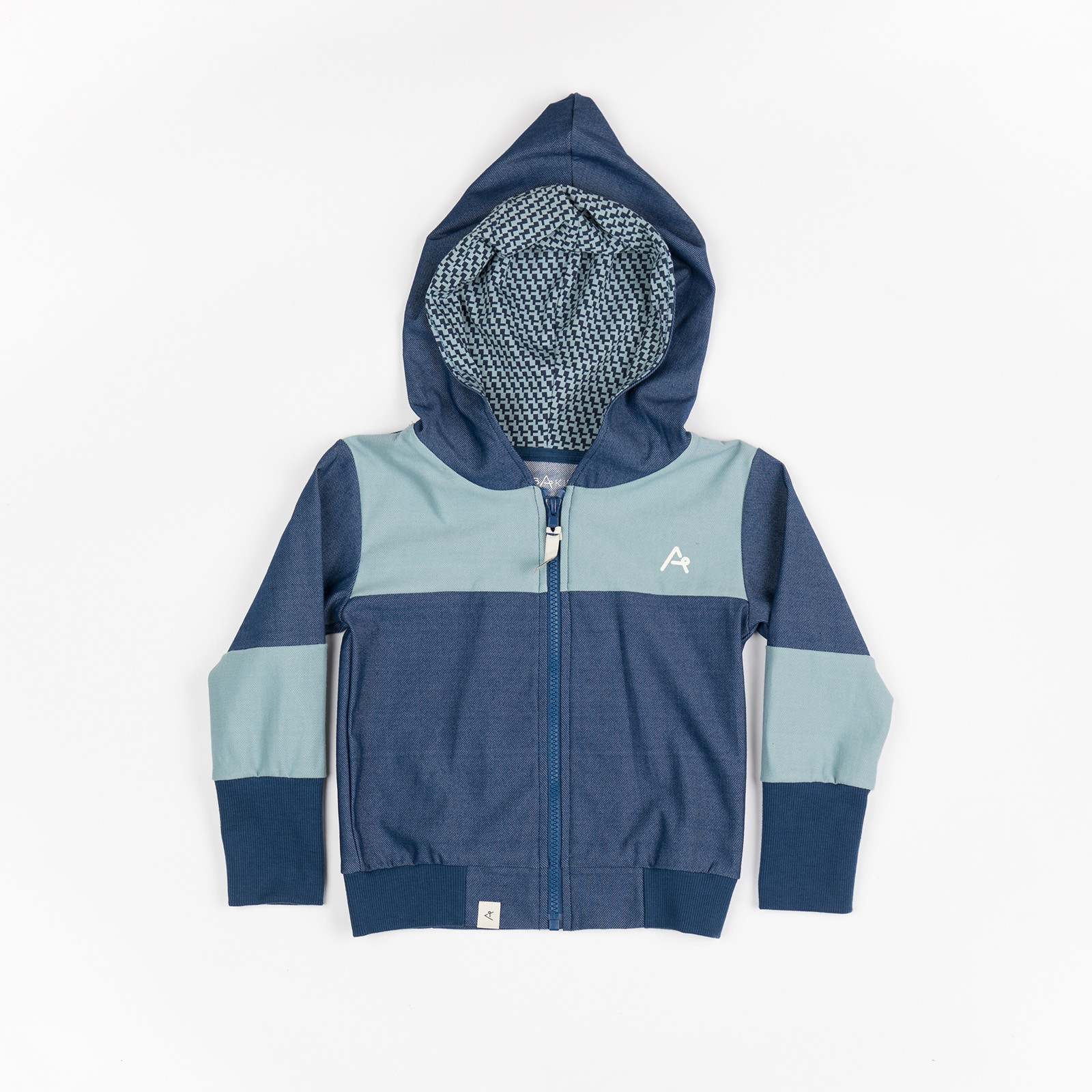 Hættetrøje til baby - Aslan Zipper Hood Estate Blue