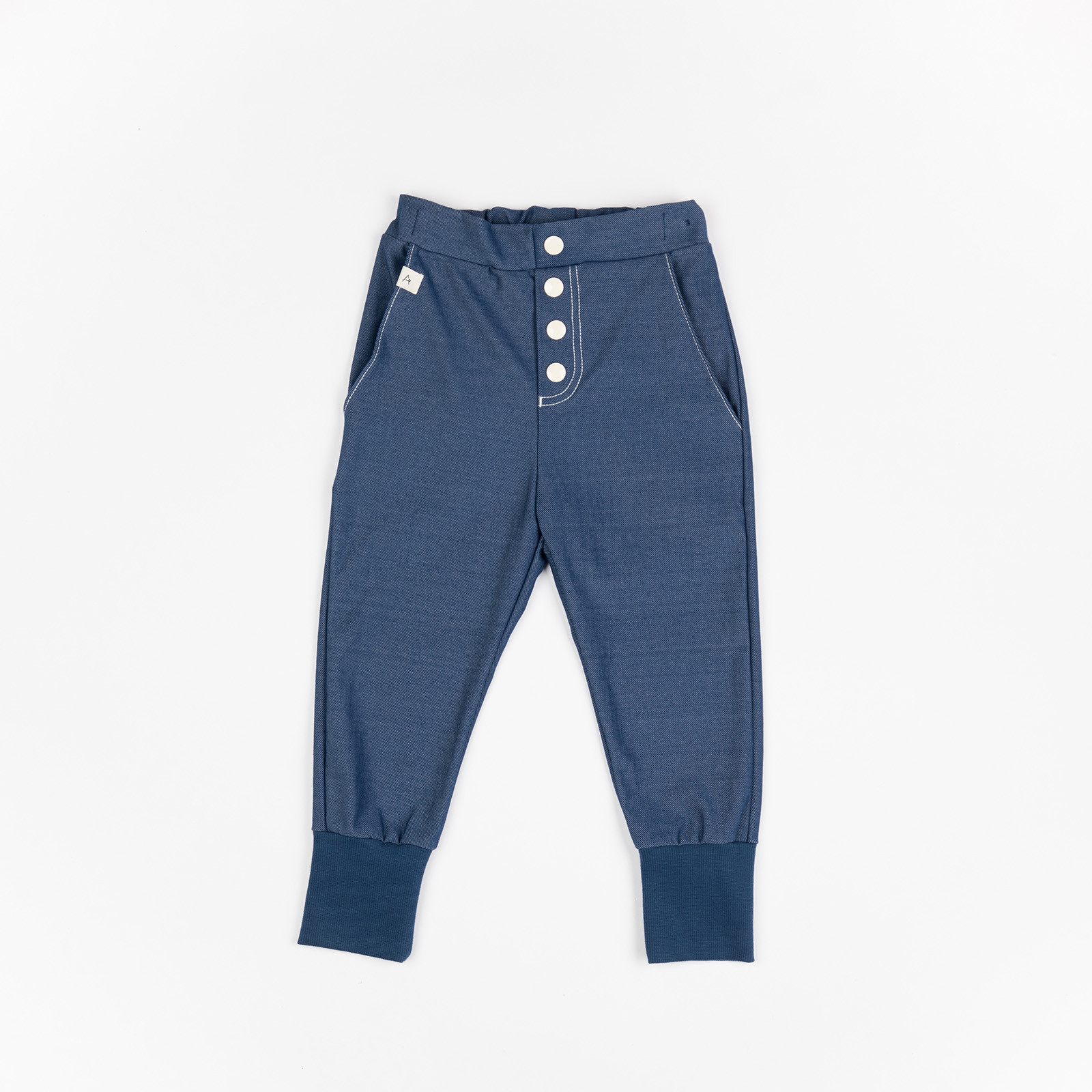 Bukser med knapper til baby - Hai Button Pants Estate Blue