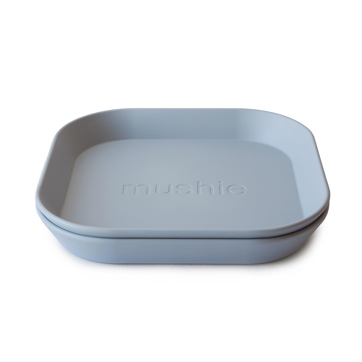 Mushie 2-pak firkantet tallerken