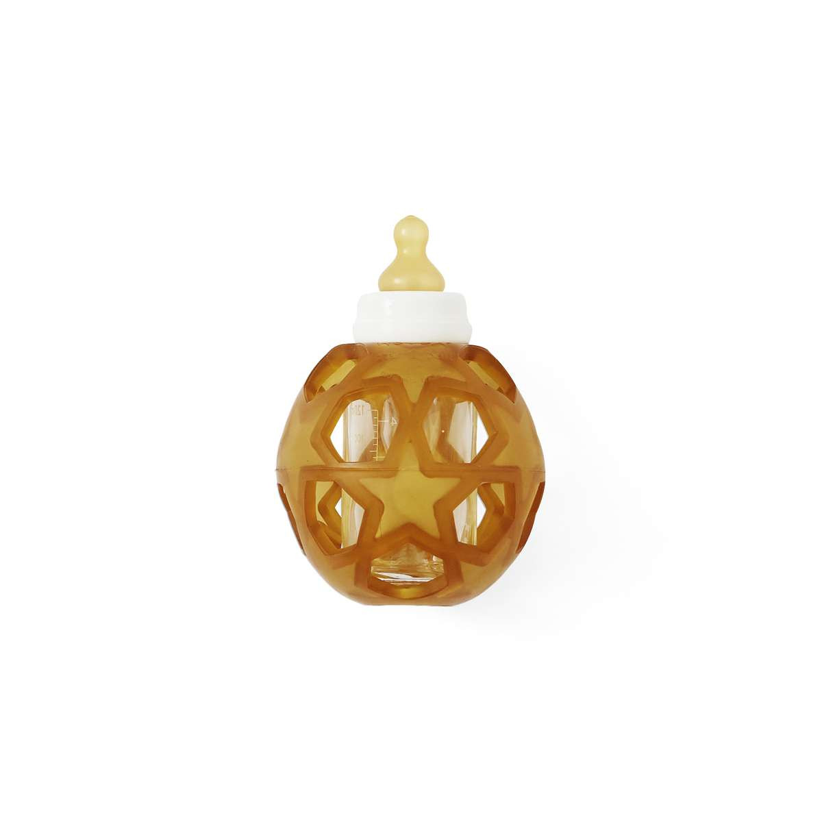 Hevea 2 i 1 sutteflaske af glas med stjerne bold til beskyttelse og bedre greb