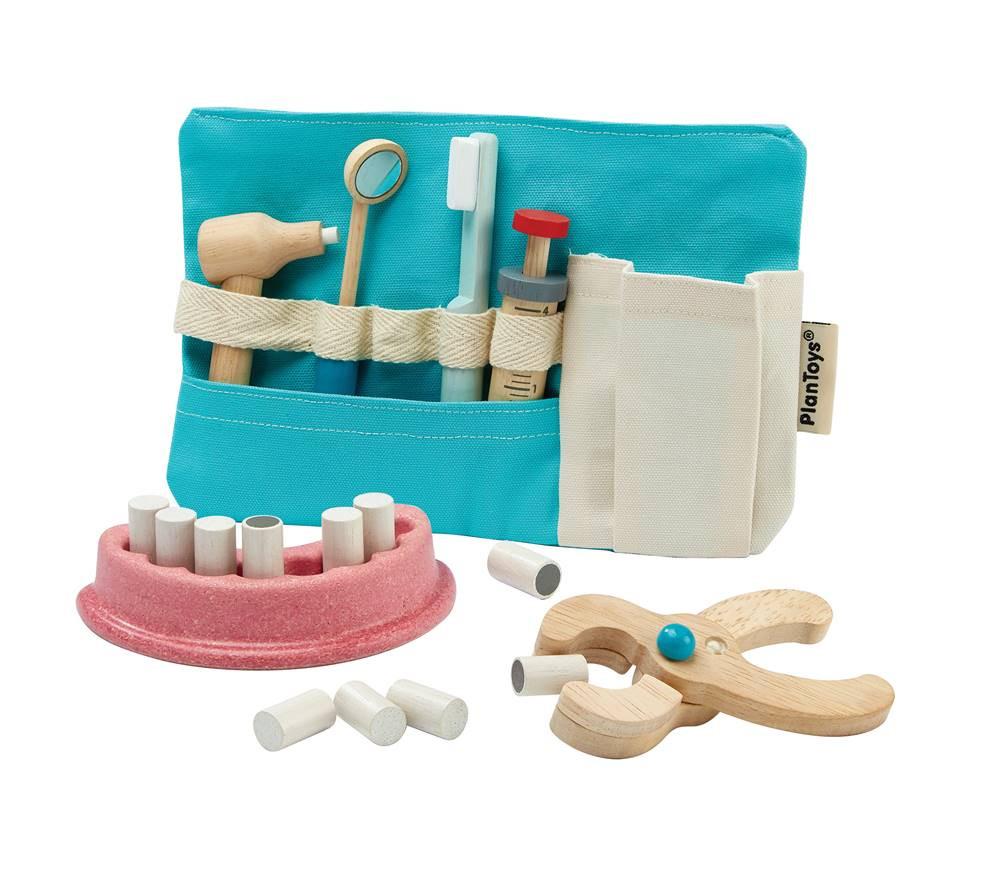 Tandlægesæt - trælegetøj fra Plan Toys
