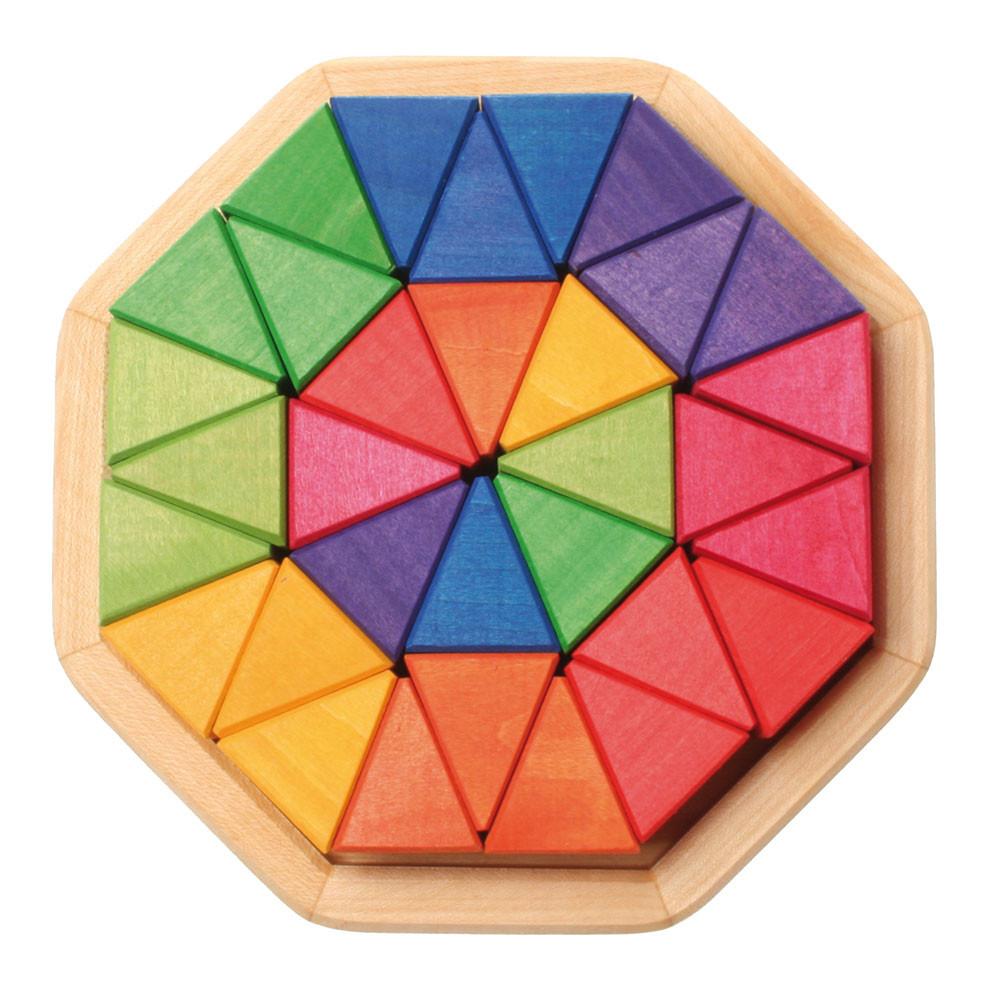 Grimms puslespil, oktagon med 4 cm træklodser