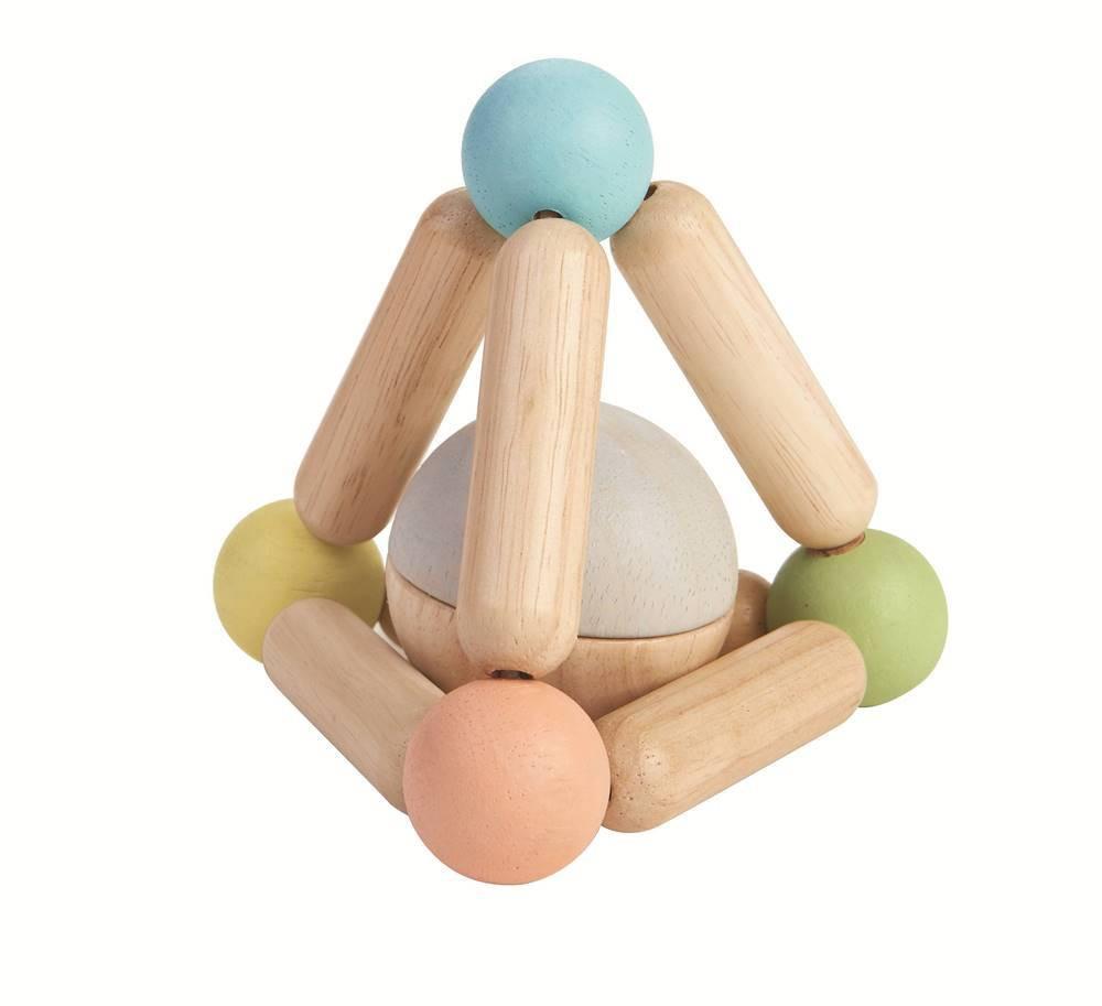 Trekantet gribe-legetøj – pastel
