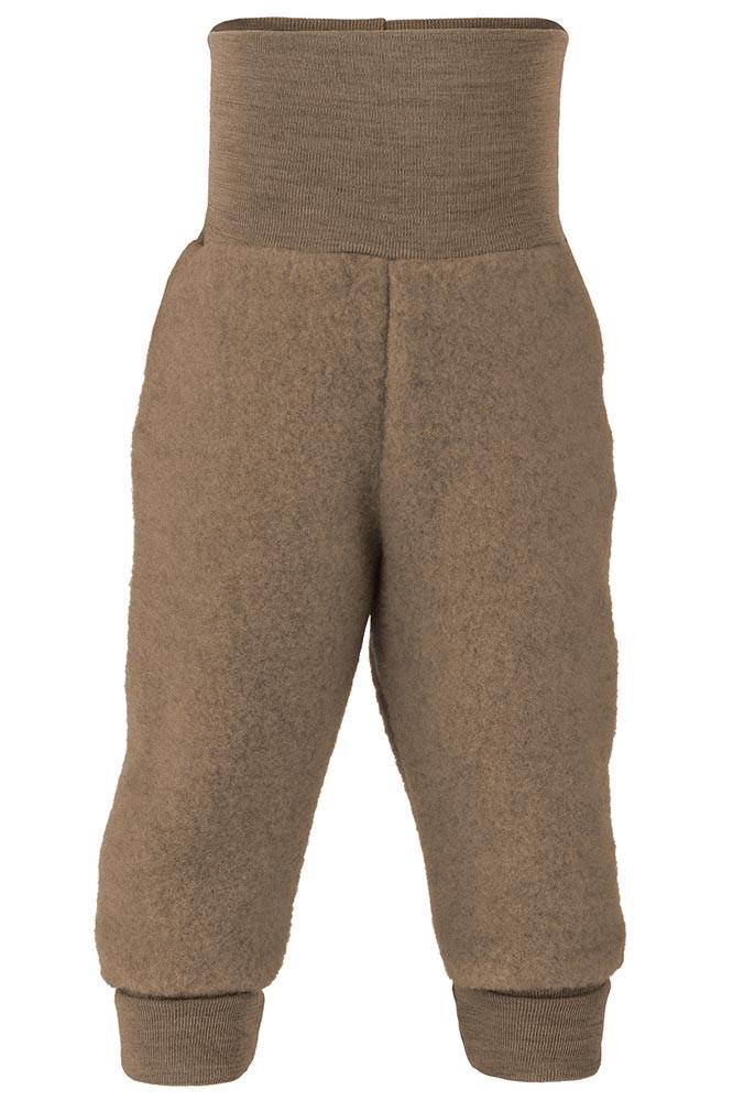 Engel uldfleece bukser - Valnød