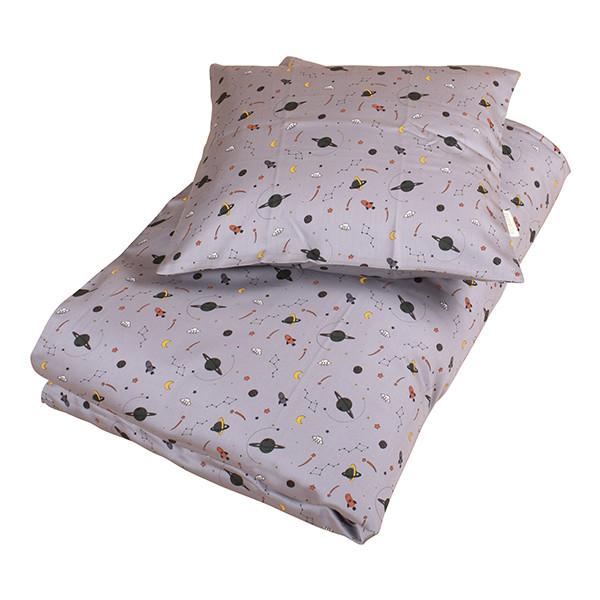 Filibabba space sengetøj | Grey baby og junior sengetøj