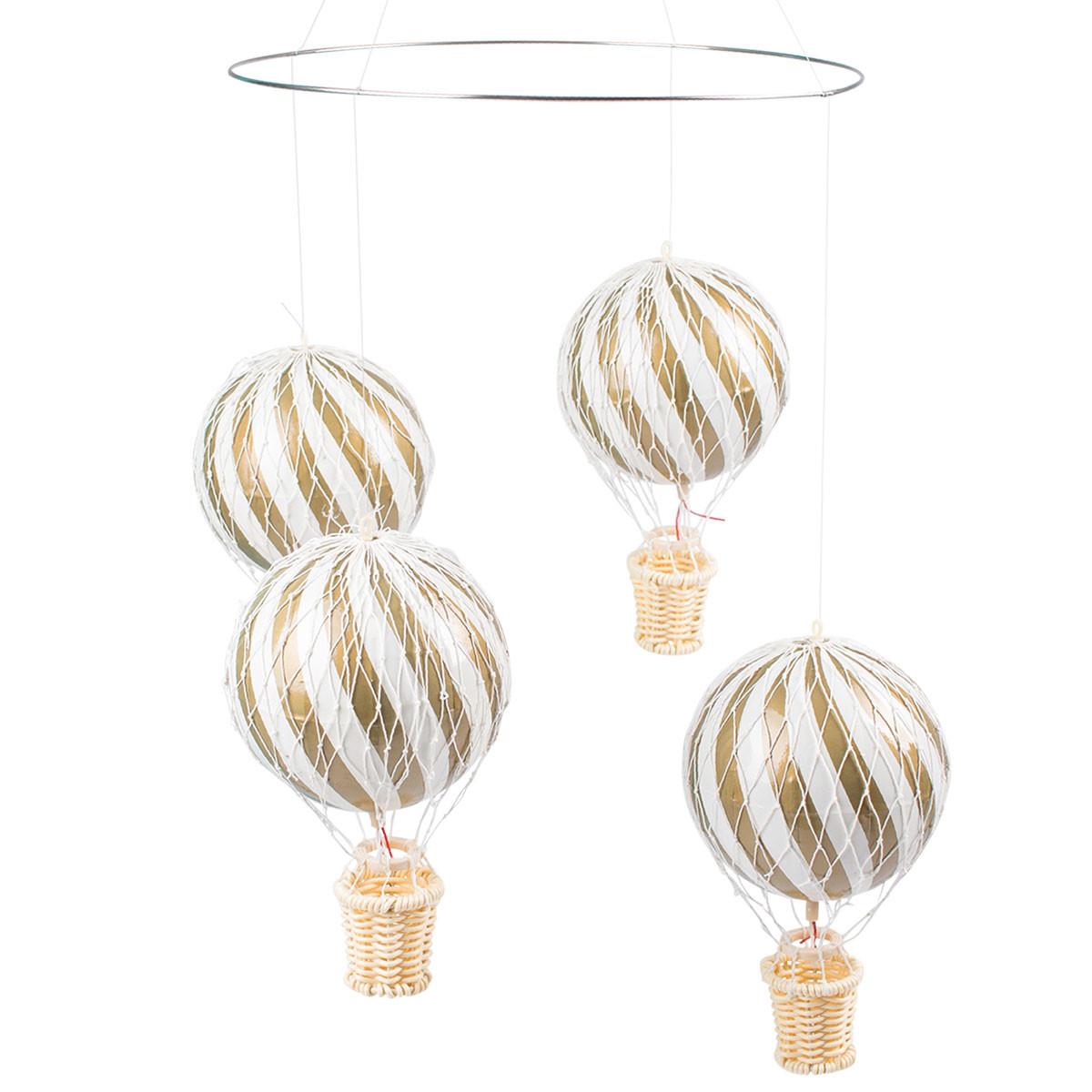 Uro med luftballoner til børneværelset i gold