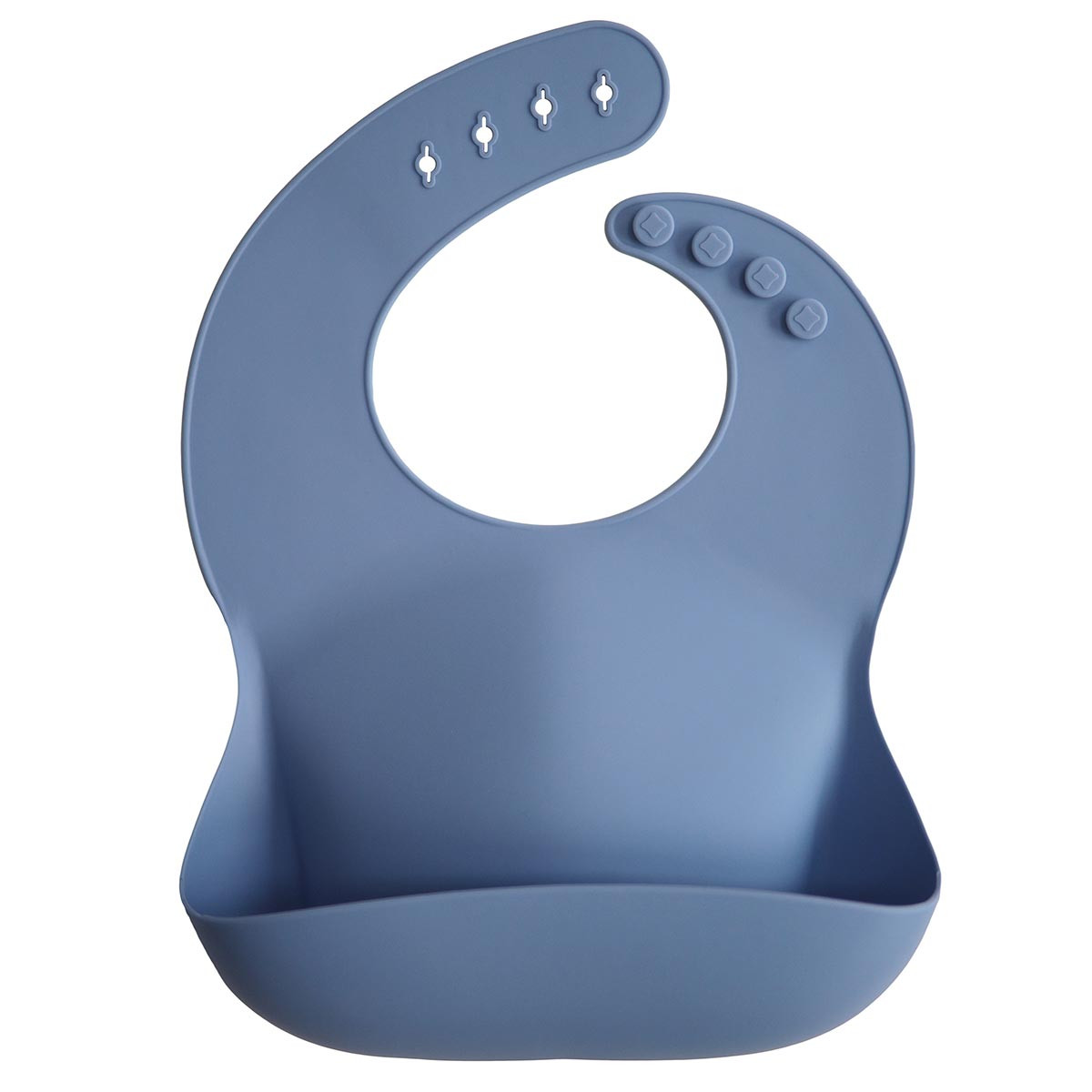 Mushie silicone spisesmæk Powder Blue