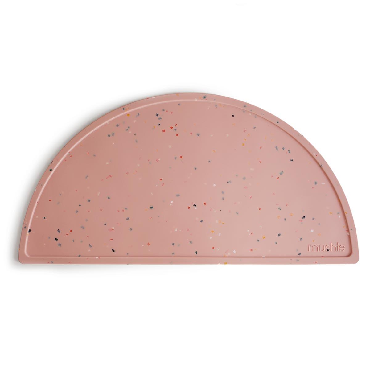 Mushie silicone dækkeserviet  Powder Pink Confetti