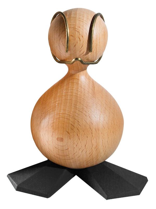 Den Grimme ælling design træfigur i bøg, lille - Sorte Fødder