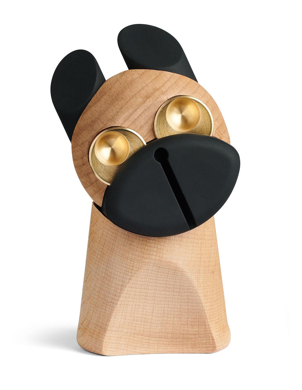 Hunden m/messing øjne - design figur fra H.C. Andersens eventyr Fyrtøjet
