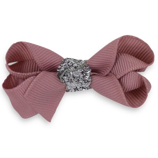 Bow's by Stær hårsløjfer med sølv glitter | 6, 8 og 10 cm