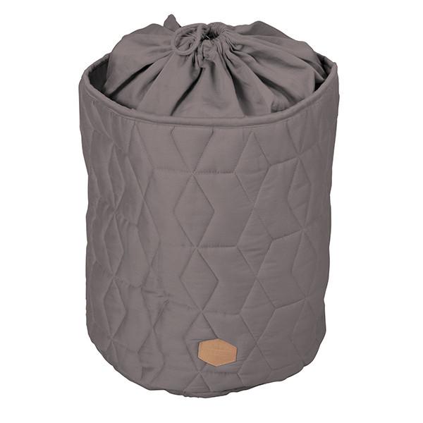 Filibabba opbevaringskurv med lukning - grå