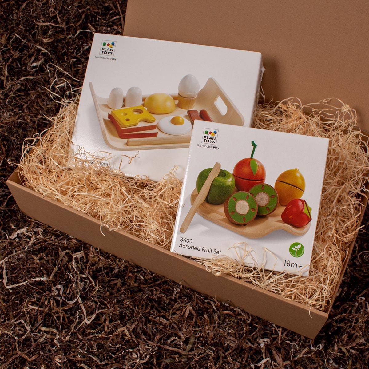 Barsel- og dåbsgave - Gavesæt legetid | Purpur-rørhat