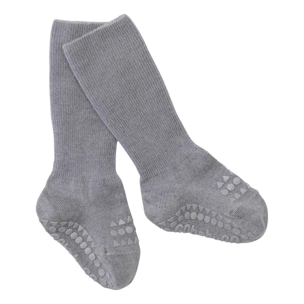 GoBabyGo Skridsikre uld baby strømper - Grey melange