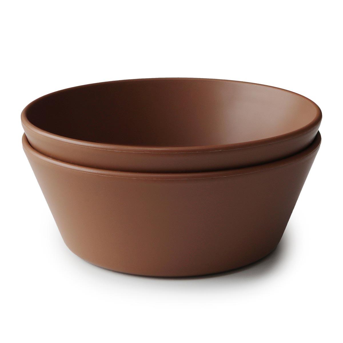 Mushie 2-pak rund skål