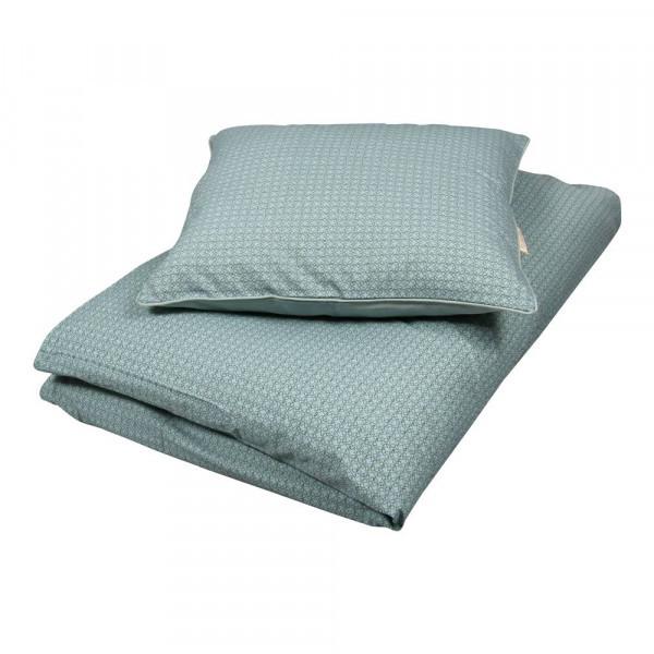 Filibabba leafed junior sengetøj dark mint