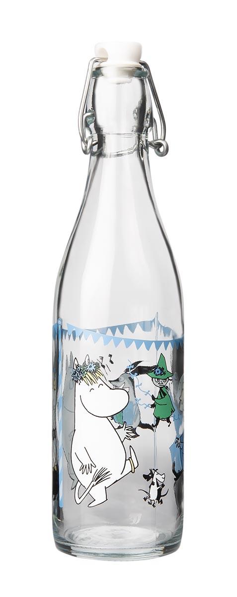 Mumi In the Garden glasflaske 0,5 L, Summerparty