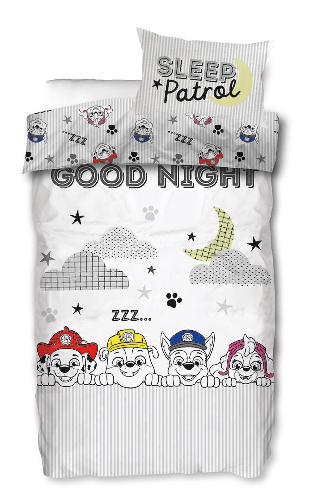 Paw Patrol junior sengetøj - Gråt og hvidt, 100x140 cm