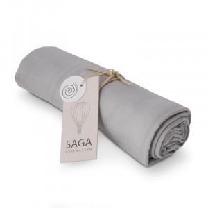 Vidar muslin stofble i silver grey - Saga Copenhagen