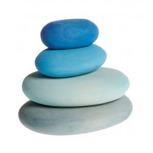 Grimms træklodser formet som blå småsten