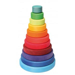 Grimms store stabeltårn i regnbuefarver