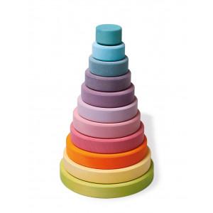 Grimms store stabeltårn i pastelfarver