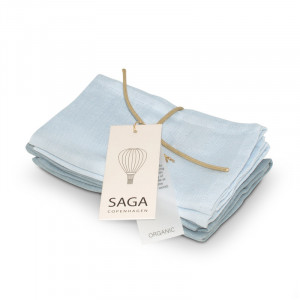 4-pak eksklusive muslin baby vaskeklude ice blue/quiet blue | Saga Copenhagen
