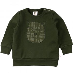 Müsli Check sweatshirt baby med bamse