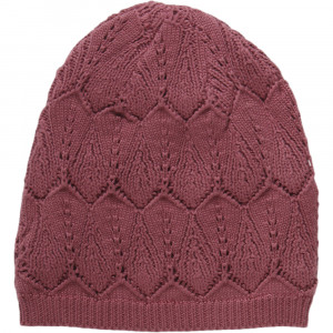 Knit hat with leaf