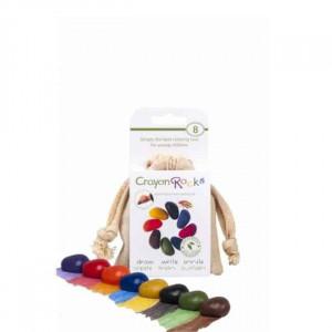 Crayon Rocks – 8 stk. i bomuldspose