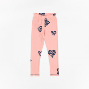 Leggings til baby - Kathy Leggings Rosette Big Hearts