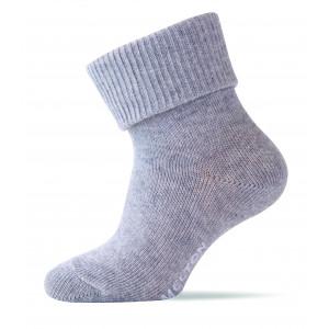 Melton Bløde baby bomuldsstrømper i light grey melange