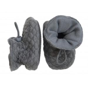 Melton Bløde quilted futter i dark grey melange