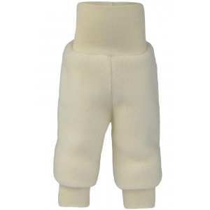 Engel uldfleece bukser - Natur/råhvid