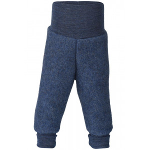 Engel uldfleece bukser - Blåmeleret