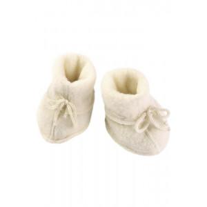 Engel uldfleece baby futter i natur | 100% økologisk uld
