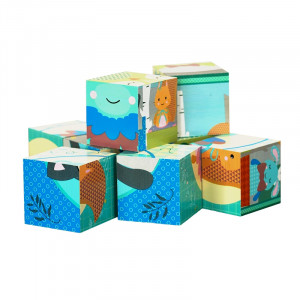Forest Friends - Wooden Toys - Blocks in a box