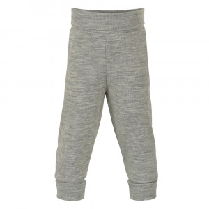 Engel uld/silke bukser til baby med taljerib - Grå