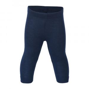 Engel uld/silke leggings - Navy/blå