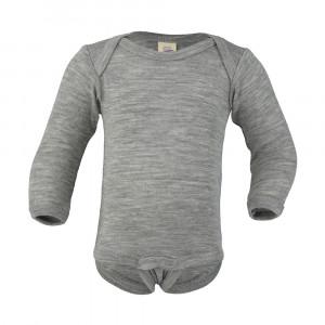 Engel body m/lange ærmer, uld/silke - Grå