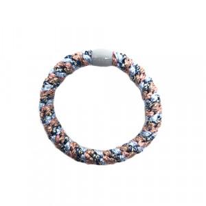 Bow's by Stær hårelastik - Multi light blue rosa metallic