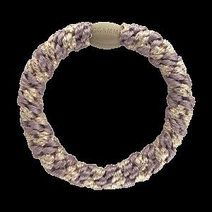 Hårelastik - multi dusty purple & beige glitter