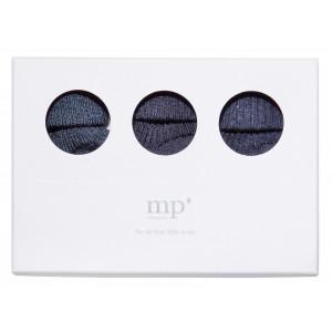 MP 3-paks strømpesæt i gaveæske navymeleret 498
